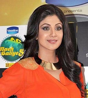 Shilpa Shetty - Shetty on the set of Nach Baliye 5 as judge