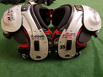 Shoulder pads - Photo of modern technology in American Football shoulder pads