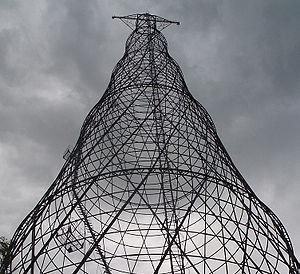 Dzerzhinsk, Russia - Shukhov Tower on the Oka River near Dzerzhinsk (about 12 km away from the city center)
