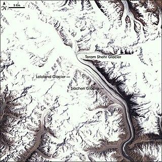 Siachen Glacier glacier located in the eastern Karakoram range in the Himalayas