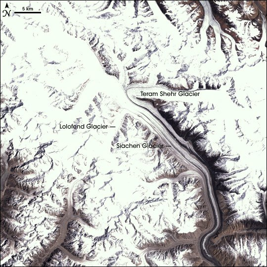 SiachenGlacier satellite
