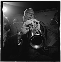 Sidney Bechet, Freddie Moore, Lloyd Phillips, and Bob Wilber, Jimmy Ryan's (Club), New York, N.Y., ca. June 1947 (William P. Gottlieb 00571).jpg