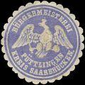 Siegelmarke Bürgermeisterei Püttlingen Kreis Saarbrücken W0382836.jpg