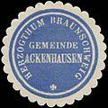 Siegelmarke Gemeinde Ackenhausen H. Braunschweig W0382795.jpg