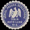 Siegelmarke K.Pr. Schlesische Train-Abteilung Nr. 6 W0337761.jpg