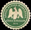 Siegelmarke K. Pr. Magdeburger Jäger-Bataillon No. 4 W0285424.jpg