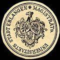 Siegelmarke Magistrat der Universitaets Stadt Erlangen W0227825.jpg