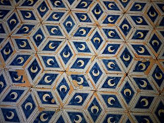 Rhombille tiling - Rhombille tiling pattern on the floor of Siena Cathedral