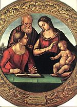 Signorelli, Holy Family with Saint, pitti.jpg
