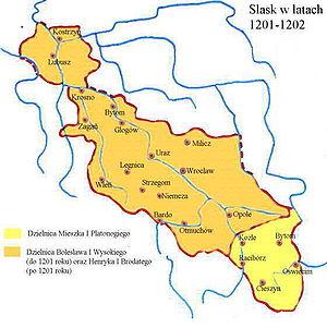 Duchies of Silesia - Image: Silesia 1201 1202