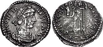 Constans II (son of Constantine III) - Siliqua of Constans II