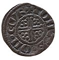 Silver penny of King John (YORYM 2000 1458) reverse.jpg