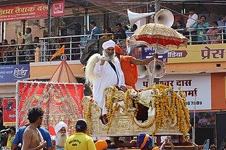 Nirmala (sect) - Nirmal Akhara procession at Ujjain Simhastha 2016