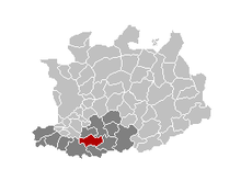 Location of Sint-Katelijne-Waver in the province of Antwerp