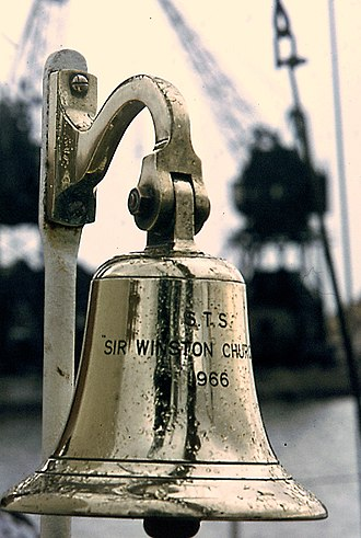 Sir Winston Churchill (schooner) - Ship's bell