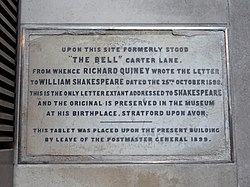 Site if the bell carter lane