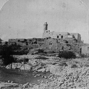 Nabi Samwil - The village site in the early 20th century