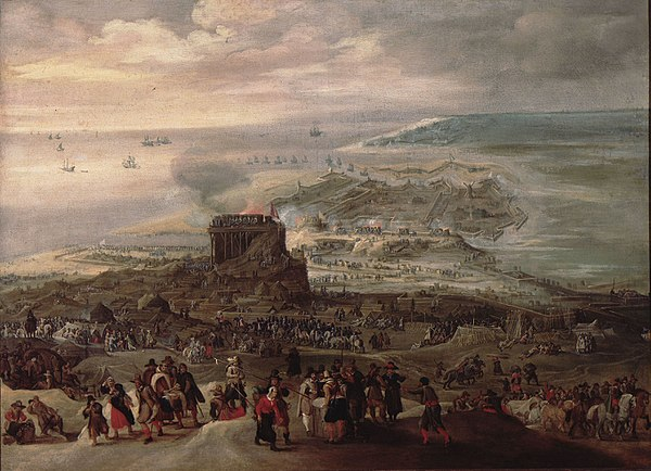 Siege of Ostend (1601-4) by Peter Snayers, oil on canvas.