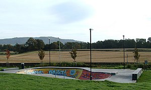 English: Skate Park Skate Park next to Leisure...