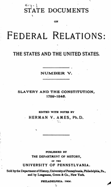 cover page of State Documents on Federal Relations