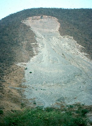 Landslide - A rock slide in Guerrero, Mexico