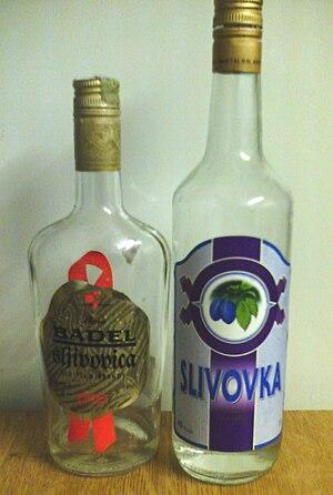 Slivovitz - Croatian Šljivovica and Slovenian Slivovka, two different names for the same drink.