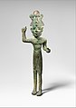 Smiting god, wearing an Egyptian atef crown MET DP370818.jpg
