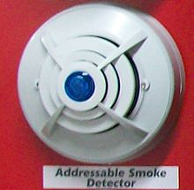 Smoke detector - Wikipedia on fire smoke damper diagram, smoke alarms in series wiring diagram, smoke detector placement diagram, smoke alarms in a series diagram, smoke loop wiring diagram, smoke detector system diagram, smoke detector installation diagram, fire alarm wiring diagram, 4 wire smoke alarm,