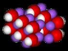 Kristal-modelo de natria hidroksido