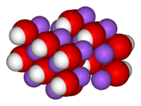 Unit cell spacefill model of sodium hydroxide