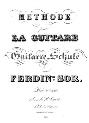 Méthode pour la Guitare - Méthode pour la guitare = Guitarre-Schule