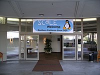 Southern California Linux Expo entrance 20060211.jpg