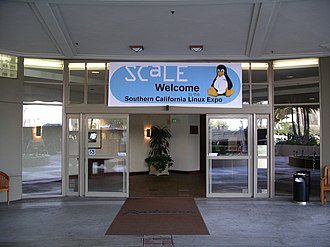 Southern California Linux Expo - Image: Southern California Linux Expo entrance 20060211