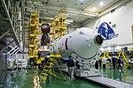 Soyuz MS-12 spacecraft in the integration facility (1b).jpg