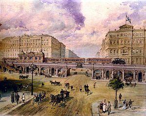 Saint Petersburg Metro - Balinsky's project for an elevated metro in Saint Petersburg (early 1900s).