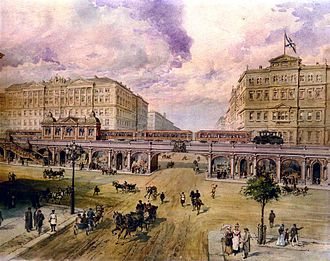 Saint Petersburg Metro - Balinsky's project for an elevated metro in Saint Petersburg (early 1900s).
