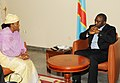 Special Representative of the UN Secretary General on Sexual Violence Zainab Bangura meeting with DRC President Joseph Kabila.jpg