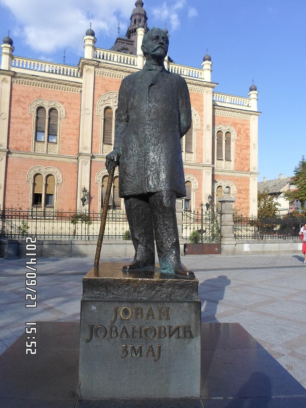 File Spomenik Jovanu Jovanovicu Zmaju 2 Jpg Wikimedia Commons