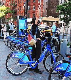 9e6186d4eeb Customers at Lafayette Street at Citi Bike's opening in May 2013