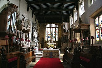 Thomas Manners, 1st Earl of Rutland - View of chancel of St Mary's Church, Bottesford, with its many monuments to the Earls and Dukes of Rutland