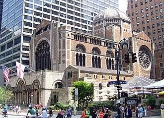 St. Bartholomew's Episcopal Church (Manhattan) - Image: St. Bartholomew's Church Summer Streets