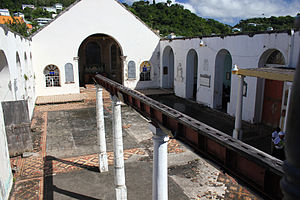 St. George's, Grenada - The remains of the St George's Anglican Church after Hurricane Ivan destroyed it in 2004. It is still being used informally by locals for both prayer as well as school class.