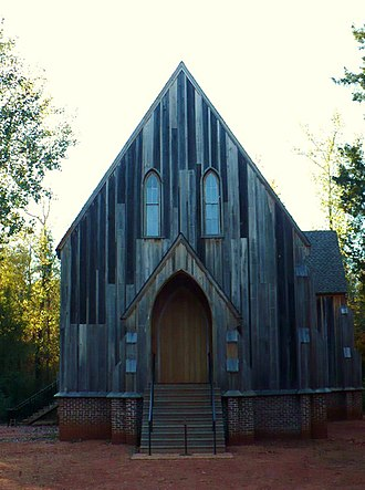 Cahaba, Alabama - St. Lukes Episcopal Church, built 1854 at Cahaba; moved to Martin's Station in 1878