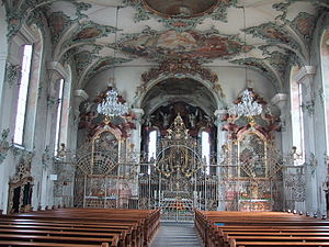 Kreuzlingen - Interior of St. Ulrich Church
