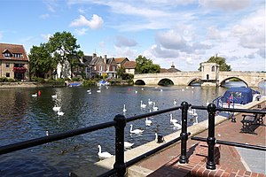 St Ives, Cambridgeshire - St Ives bridge and the River Great Ouse