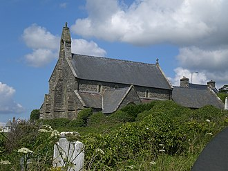 Llanaber - Image: St Mary and St Bodfan Church, Llanaber from the beach