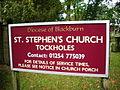 St Stephen's Church, Tockholes, Sign - geograph.org.uk - 990695.jpg