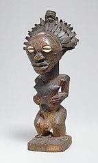 Power statue (nkishi) of a man