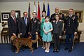 Staff Sergeant Clinton Romesha and his family and Army senior leadership.jpg