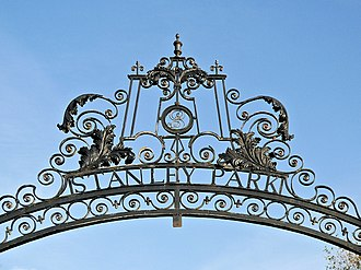 Stanley Park, Blackpool - Ironwork over a Stanley Park gate